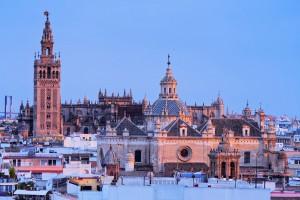 Catedral de Sevilla al atardecer